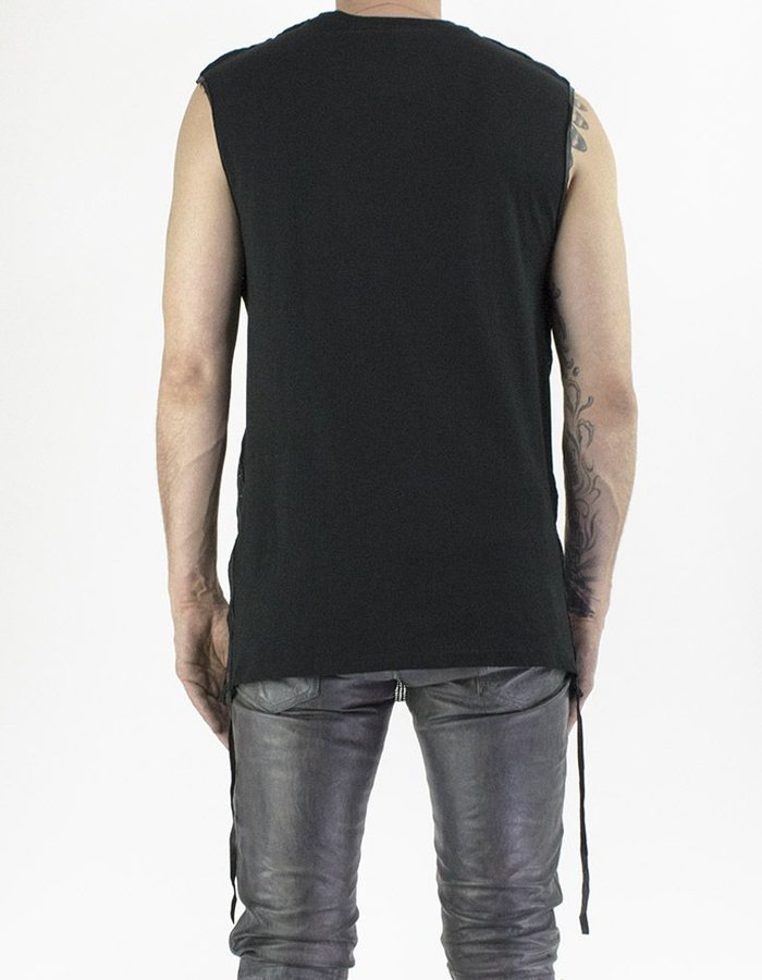 M-OJO RISIN' TANK IN SHEER LEATHER - HERRINGBONE