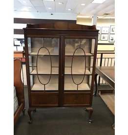Antique Queen Anne China Cabinet