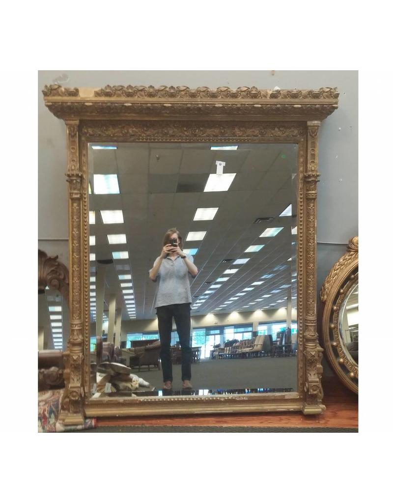 Mirror Large Ornate Gold