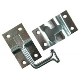 JR Products 90 Degree T Style Door Holder Zinc