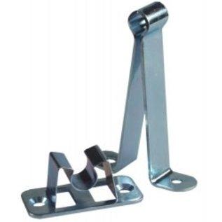 JR Products Metal C-Clip Door Holder With Socket