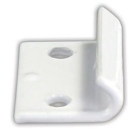 JR Products Fold Down Camper Catch White 2 PK