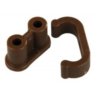 JR Products Barrel Catch 6 per pk Plastic Clip