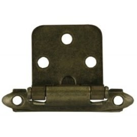 JR Products Self Closing Hinge Satin Antique Brass 2pk
