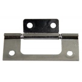 "JR Products 3"" Non-Mortise Hinge Chrome"