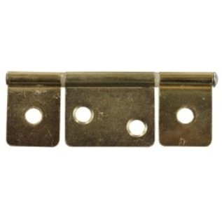 """JR Products 3 1/2"""" Non-Mortise Hinge Brass"""