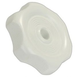 "JR Products White Window Knob 1"" Shaft"