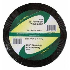 "JR Products Vinyl Insert 1"" x 25' Black"