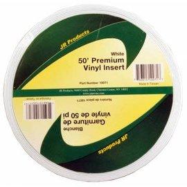 "JR Products Vinyl Insert 1"" x 50' Polar White"