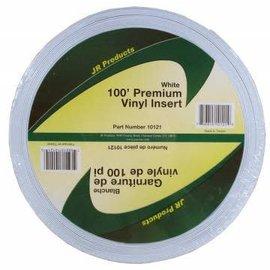 "JR Products Vinyl Insert 1"" x 100' Polar White"