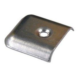 JR Products Aluminum Vinyl End Caps 4pk