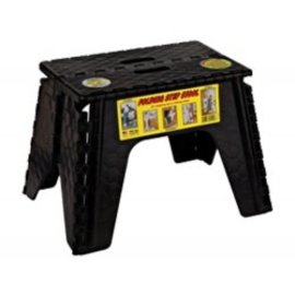 "B&R Plastics 12"" Step Stool Black"