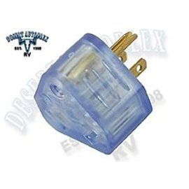 Conntek 15 Amp Male to 30 Amp Female Temp Adapter Lighted