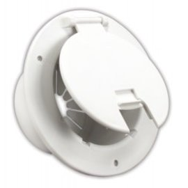 JR Products Polar White Round Electrical Hatch