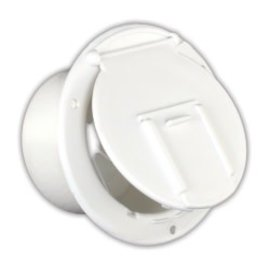 JR Products Low Profile Round Cable Hatch