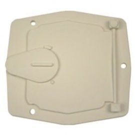 JR Products Colonial White Power Cord Hatch