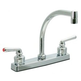 "Phoenix 8"" Chrome Kitchen Faucet Hi Arc Spout"