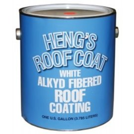 Hengs/Elixer Hengs White Roof Coat Aluminum & Metal Roofs Gallon
