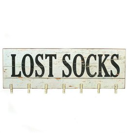 Lost Socks Sign with Clothes Pins