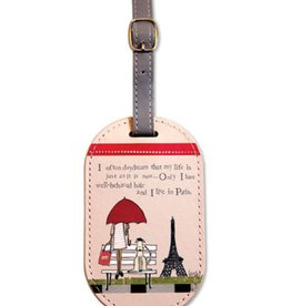 Live in Paris Luggage Tag