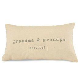 Grandparents Est 2018 Canvas Pillow