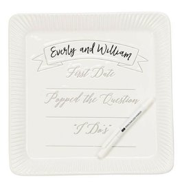 Ceramic Commemorative Wedding Plate