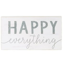 Wood & Tin Happy Everything Wall Plaque