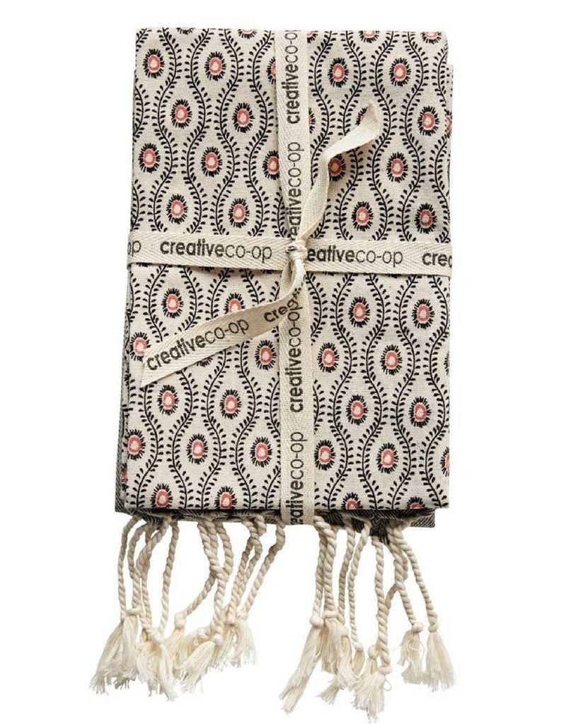Cotton Towel Set With Fringe