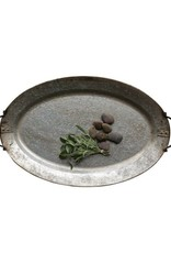 Galvanized Metal Tray with Handles