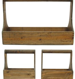 Wood Boxes with Handle - 3 pc set