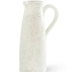 White Ceramic Crackled Pitcher - 14.75""