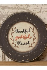 Thankful-Grateful-Blessed Decorative Plate