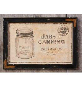 Framed Mason Jar Print