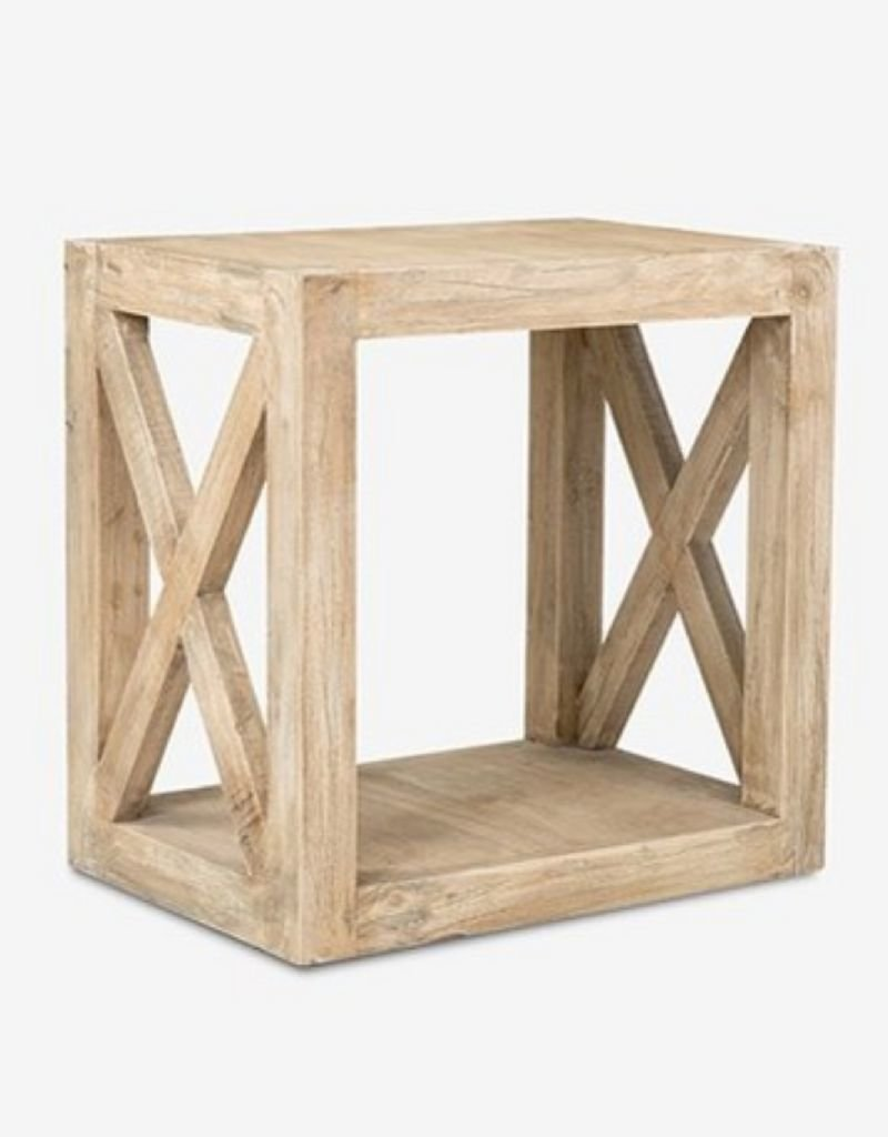 Slatted End Table