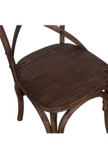 X Back Chair with Wood Seat