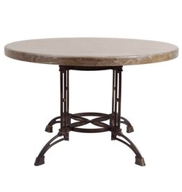 Metal Base Round Dining Table
