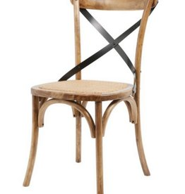 Medium Brown X Back Chair