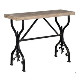 Metal Base Console Table
