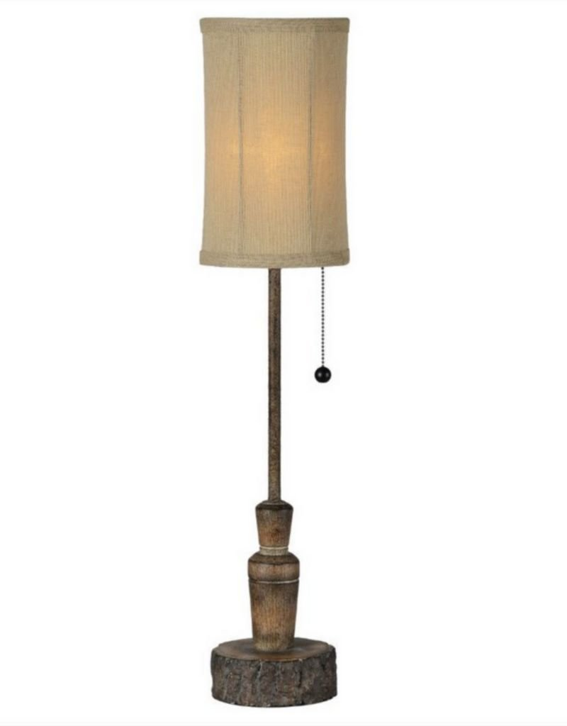 """Rustic """"Duck Call"""" Buffet Lamp"""