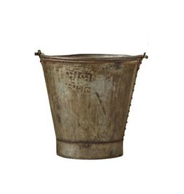 Metal Bucket with Handle - Authentic