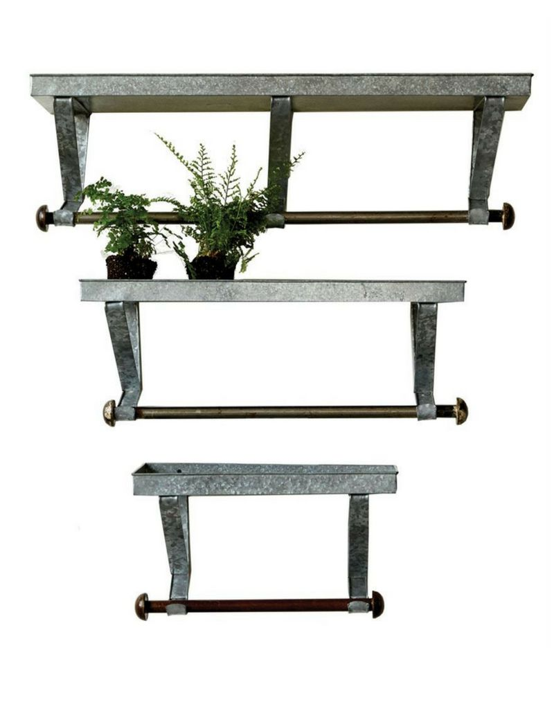 small metal shelf. Small Metal Shelf With Hanging Bar L