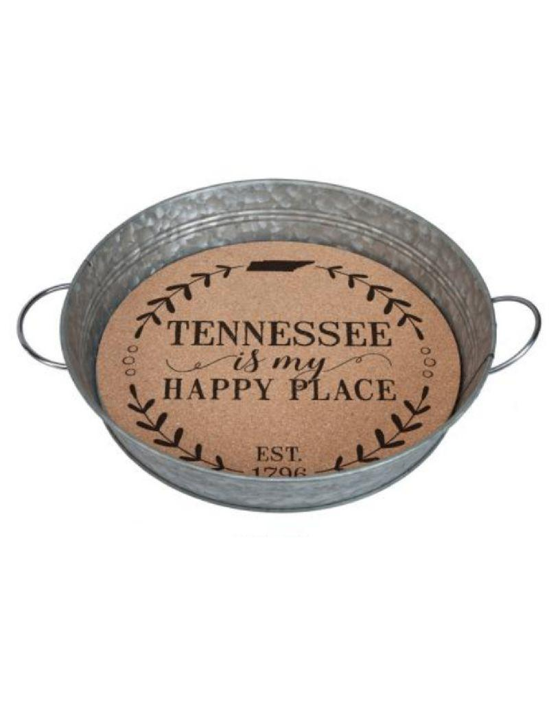 Tennessee is My Happy Place Cork Bottom Tray