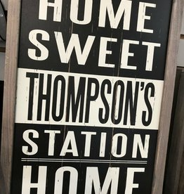 Home Sweet Home Framed Sign - Assorted Local Towns