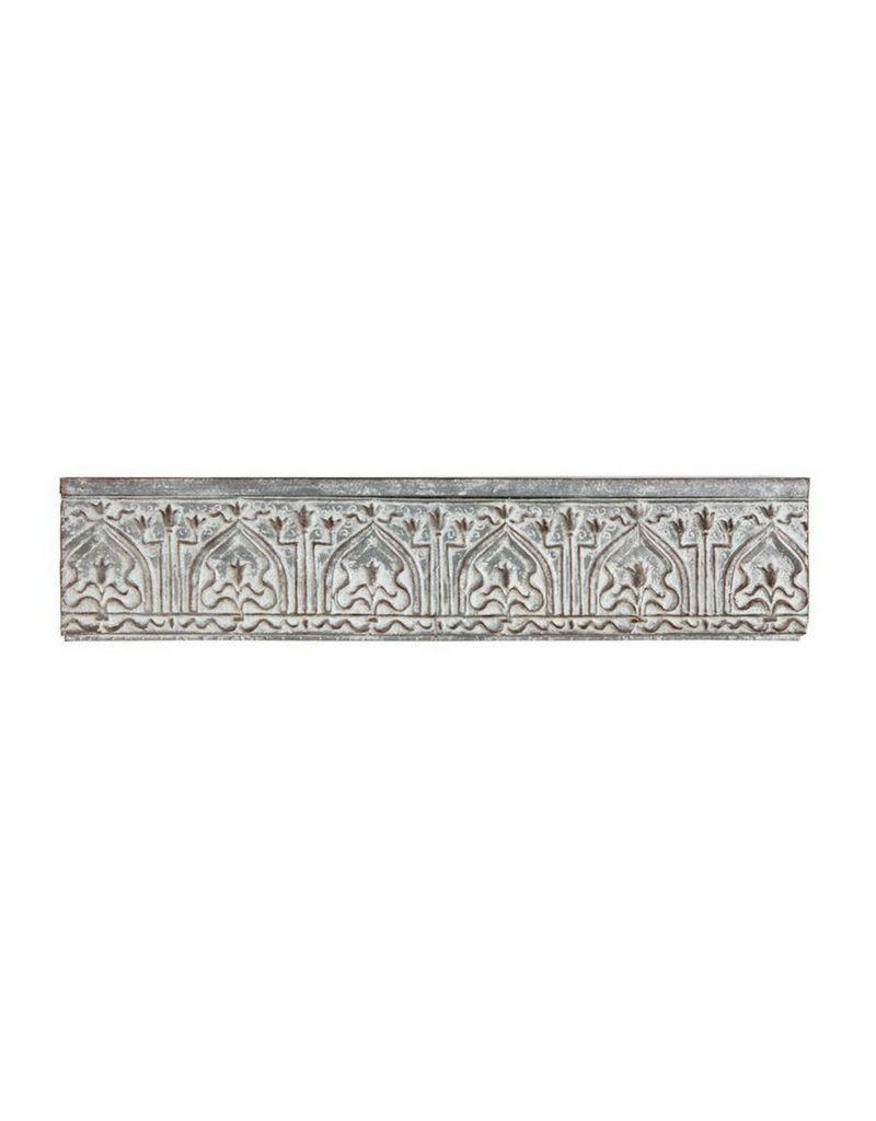 Distressed Zinc Finish Metal Wall Shelf