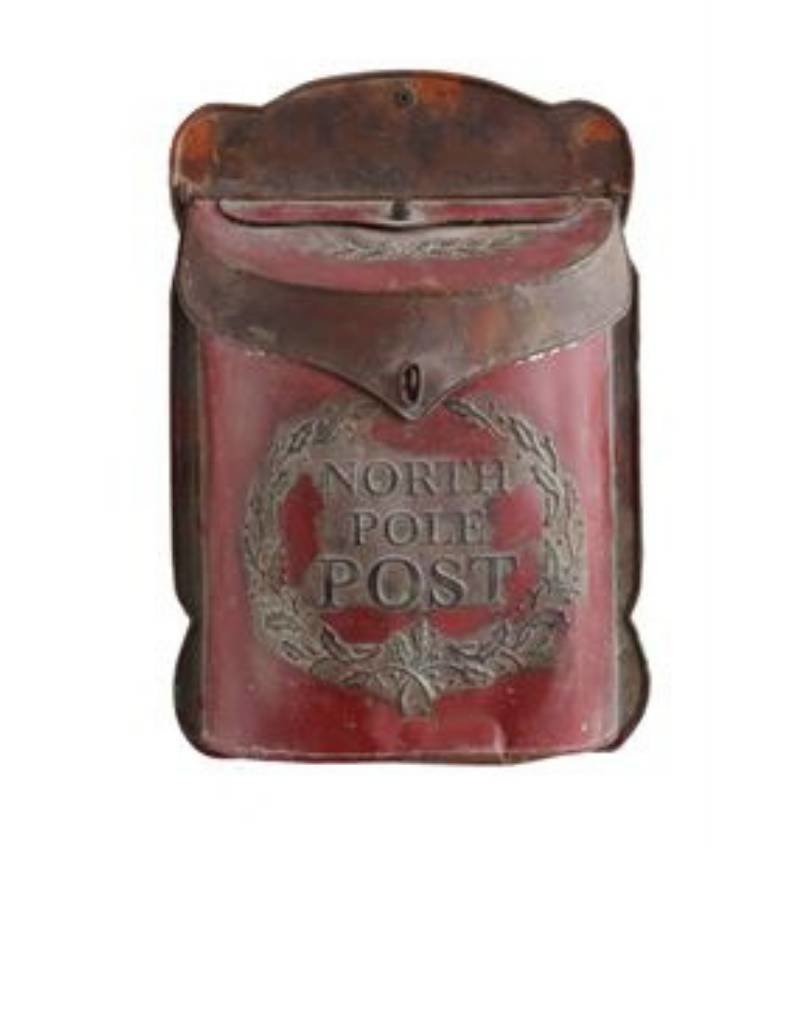 Embossed Tin North Pole Post Mail Box