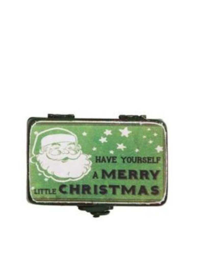 Vintage Inspired Metal Christmas Boxes - Asst