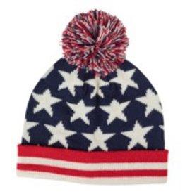 Old Glory Knit Pom-Pom Hat