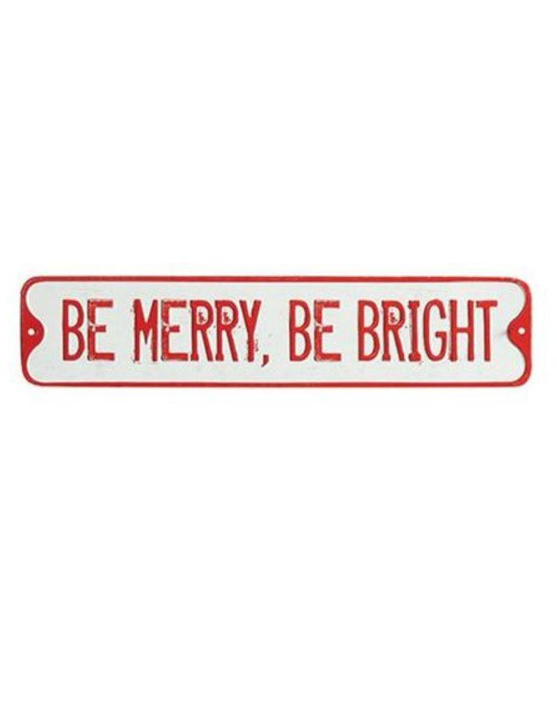 Embossed Tin Holiday Street Signs - Asst