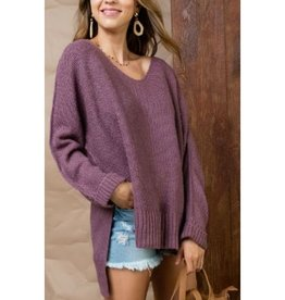 High and Low Sweater