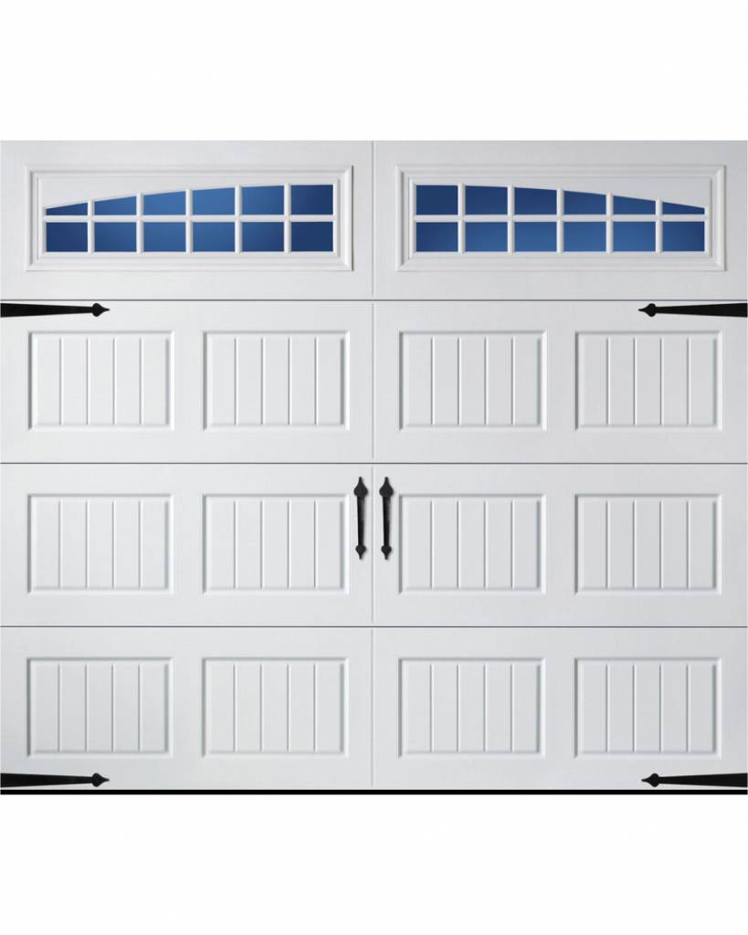 Carriage House 8x7 Insulated White Single Garage Door With Windows